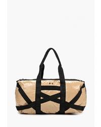 Женская светло-коричневая спортивная сумка из плотной ткани от Under Armour