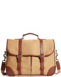 Светло-коричневая сумка почтальона из плотной ткани