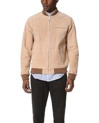Светло-коричневая университетская куртка