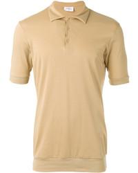 Светло-коричневая футболка-поло