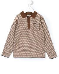 Детская светло-коричневая футболка-поло для мальчику от Caramel