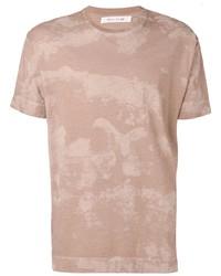 Мужская светло-коричневая футболка с круглым вырезом с принтом от 1017 Alyx 9Sm