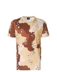 Мужская светло-коричневая футболка с круглым вырезом с принтом от CHRISTOPHER RAEBURN