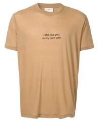 Мужская светло-коричневая футболка с круглым вырезом с принтом от Song For The Mute