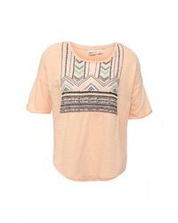 Женская светло-коричневая футболка с круглым вырезом от Roxy