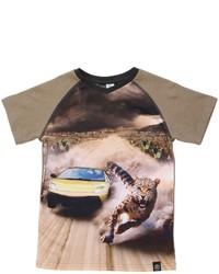 Светло-коричневая футболка