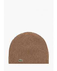 Мужская светло-коричневая шапка от Lacoste
