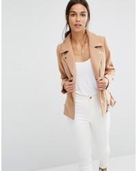 Женская светло-коричневая шерстяная косуха от Missguided