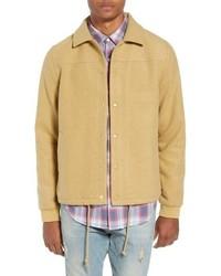 Светло-коричневая шерстяная куртка-рубашка