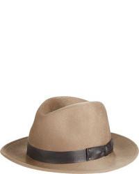 Светло-коричневая шерстяная шляпа