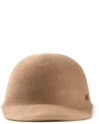 Женская светло-коричневая шерстяная шляпа