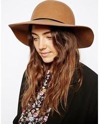 Женская светло-коричневая шерстяная шляпа от Asos