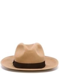 Женская светло-коричневая шерстяная шляпа от Dsquared2