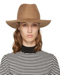Женская светло-коричневая шерстяная шляпа от Harmony