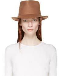 Женская светло-коричневая шерстяная шляпа от Stella McCartney