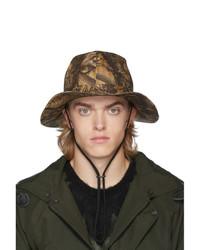 Мужская светло-коричневая шляпа с камуфляжным принтом от South2 West8