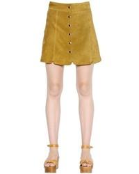 Светло-коричневая юбка на пуговицах