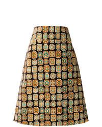 Светло-коричневая юбка-трапеция от La Doublej