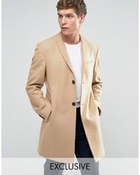 Светло-коричневое длинное пальто