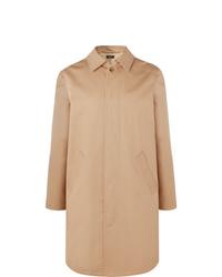 Светло-коричневое длинное пальто от A.P.C.