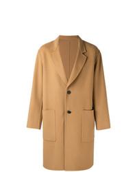 Светло-коричневое длинное пальто от AMI Alexandre Mattiussi