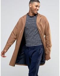 Светло-коричневое длинное пальто от Asos