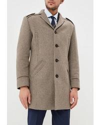 Светло-коричневое длинное пальто от Bazioni