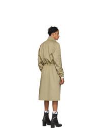 Светло-коричневое длинное пальто от Random Identities