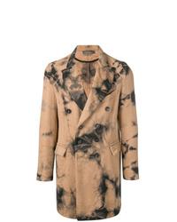 Светло-коричневое длинное пальто от Di Liborio