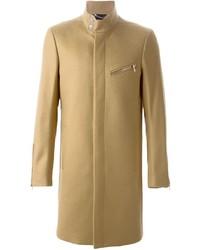 Светло-коричневое длинное пальто от Diesel Black Gold