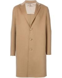 Светло-коричневое длинное пальто от Emporio Armani
