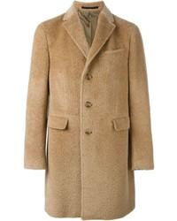 Светло-коричневое длинное пальто от Ermenegildo Zegna