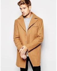 Светло-коричневое длинное пальто от Esprit