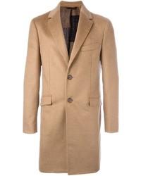 Светло-коричневое длинное пальто от Etro