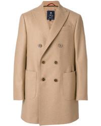 Светло-коричневое длинное пальто от Fay