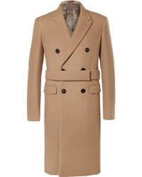 Светло-коричневое длинное пальто от Jil Sander