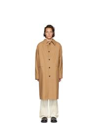 Светло-коричневое длинное пальто от Kassl Editions