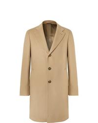 Светло-коричневое длинное пальто от Loro Piana