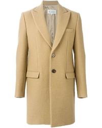 Светло-коричневое длинное пальто от Maison Margiela