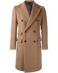 Светло-коричневое длинное пальто от Marc Jacobs