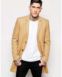 Светло-коричневое длинное пальто от Minimum