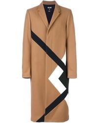 Светло-коричневое длинное пальто от MSGM