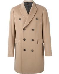 Светло-коричневое длинное пальто от Paul Smith
