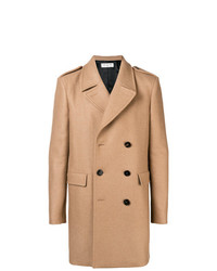 Светло-коричневое длинное пальто от Saint Laurent