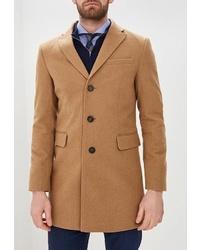 Светло-коричневое длинное пальто от Sainy