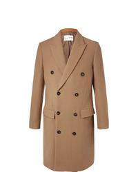 Светло-коричневое длинное пальто от Salle Privée