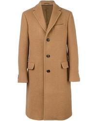Светло-коричневое длинное пальто от Salvatore Ferragamo