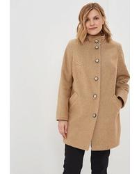 Женское светло-коричневое пальто