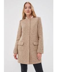 Женское светло-коричневое пальто от Alix Story