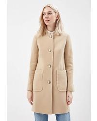 Женское светло-коричневое пальто от Azell'Ricca